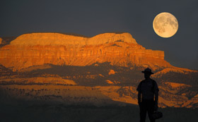 Full Moon over Bryce Canyon [National Park Service]