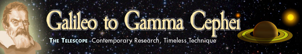 Galileo to Gamma Cephei - Contemporary Research, Timeless Technique